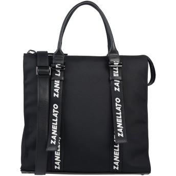 《セール開催中》ZANELLATO レディース ハンドバッグ ブラック 紡績繊維 / 革
