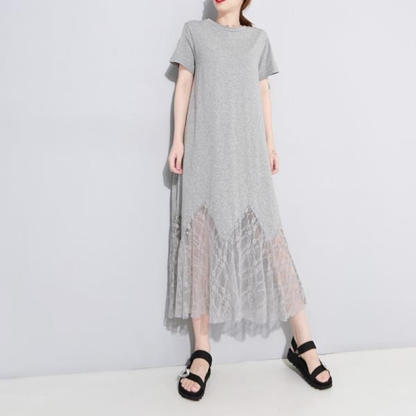 《D'Fina 時尚女裝》 天使翅膀 後背小鏤空蕾絲拼接魚尾洋裝 (2色)