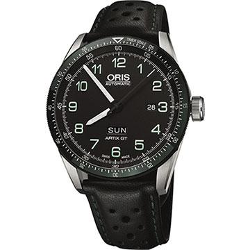 Oris Calobra日曆星期限量表II-黑x綠圈/44mm 0173577064494-SETLS