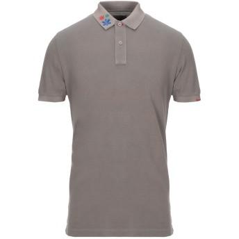 《セール開催中》GRAN SASSO メンズ ポロシャツ カーキ 52 コットン 100%