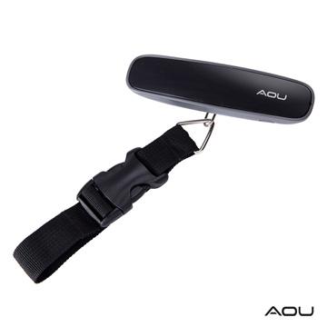 AOU微笑旅行 多功能日本YKK扣具行李秤時尚多彩設計(灰)66-026