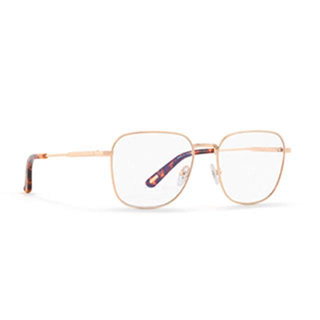 【INVU】瑞士文雅質感細方框光學眼鏡(白金/琥珀) B3910C