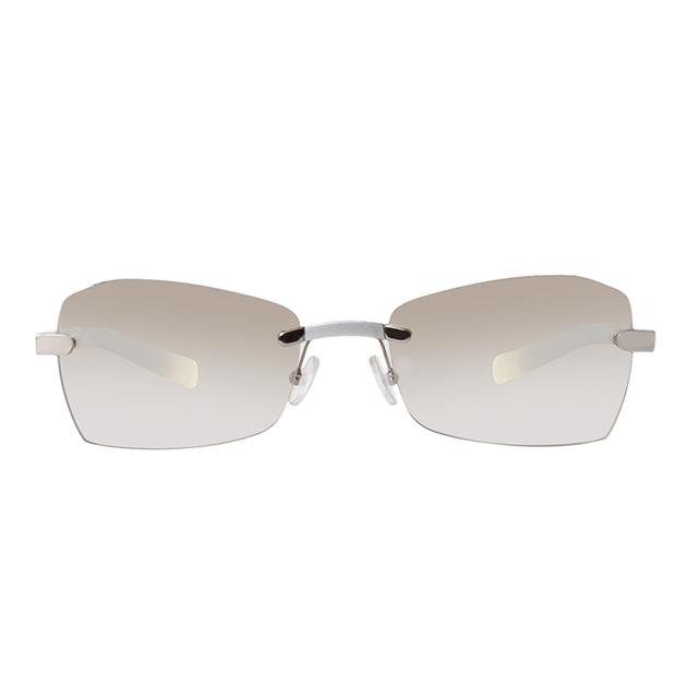 Gianfranco Ferré 義大利 簡約時尚造型太陽眼鏡 / 銀GF55402