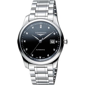 LONGINES 浪琴 Master 巨擘系列真鑽機械腕錶 黑 39mm L27934576