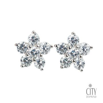 City Diamond Amor系列 K金耳環