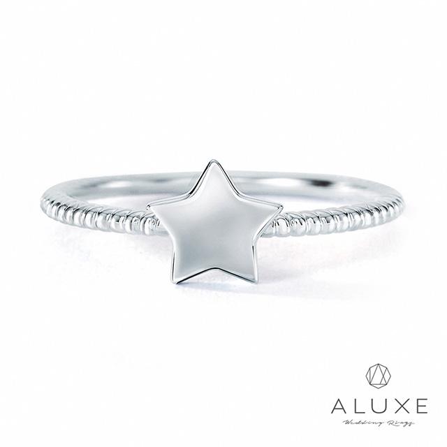 A-LUXE亞立詩 18K金許願星星線戒