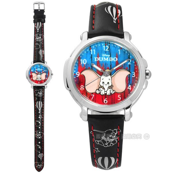 Disney迪士尼 小飛象 Dumbo 兒童皮革手錶 32mm MK-14131B