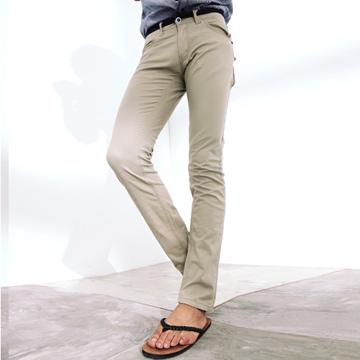 【MAKER NET】韓系牛仔仿腰帶休閒長褲