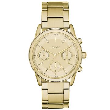 DKNY  呢喃承諾三眼都會腕錶-金