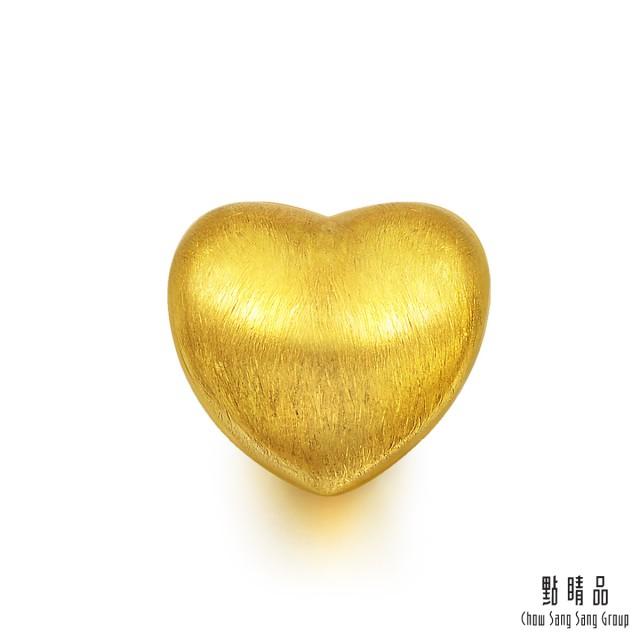 點睛品 Charme 愛心 黃金串珠