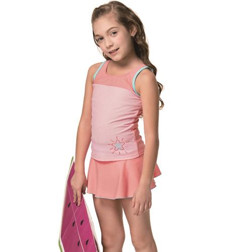 【SARBIS】泡湯 SPA女童兩件式泳裝附泳帽B82822