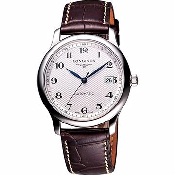 LONGINES 浪琴 Master 巨擘系列機械腕錶 銀x咖啡 40mm L27934783