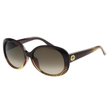 GUCCI-簡約款 太陽眼鏡(咖啡紅)