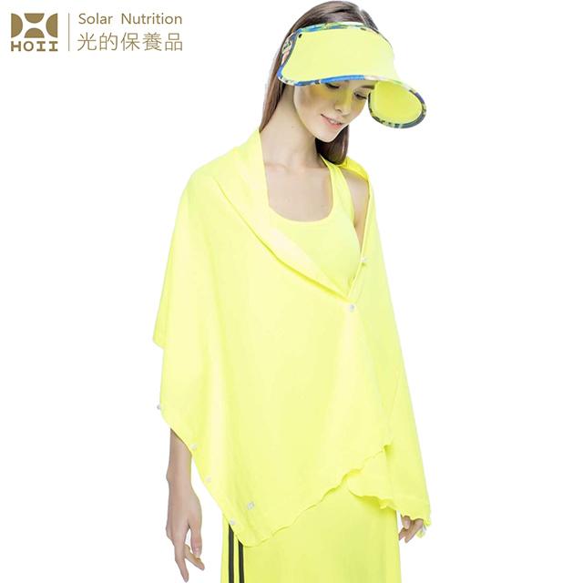 【后益 HOII】UPF50+抗UV防曬涼感先進光學機能布-披肩★黃光