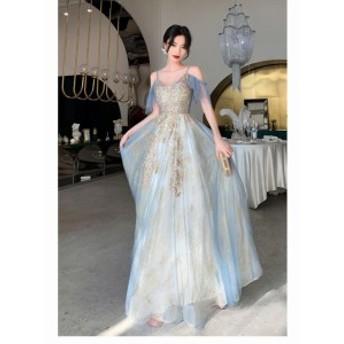 新作 ロングドレス 演奏会 大人 パーティードレス 結婚式ドレス 二次会 発表会 ウェディングドレス 二次会ドレス キャミソールワンピース
