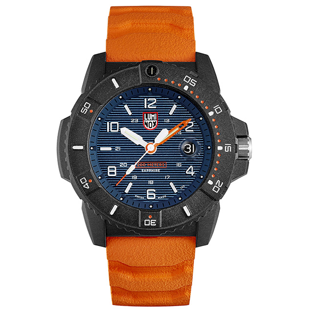 LUMINOX 雷明時NAVY SEAL 3600 海豹部隊腕錶 – 橘藍 / 45mm