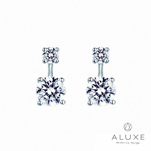【ALUXE 亞立詩鑽石】Venus系列 0.40克拉美鑽耳環
