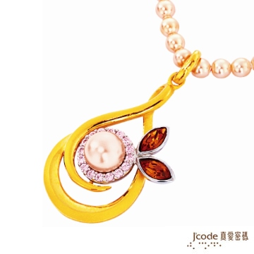 J'code真愛密碼-優情 純金+珍珠項鍊
