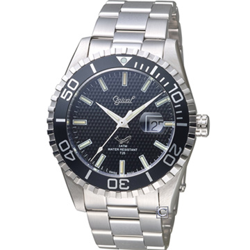 Ogival 愛其華 夜鷹氚氣燈管潛水型腕錶 黑 3985TGS