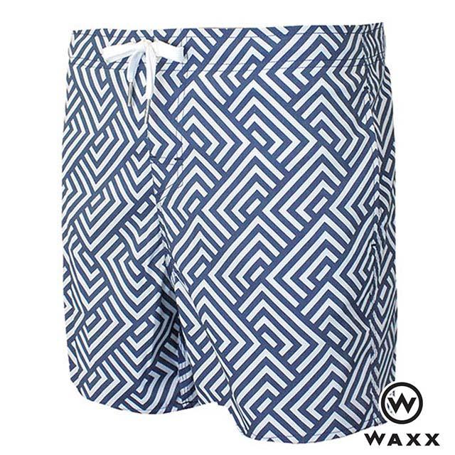 WAXX衝浪系列-幾何時尚快乾型男海灘褲(15英吋)