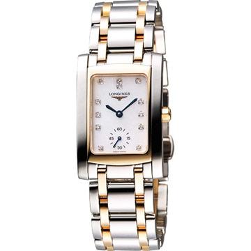 LONGINES DolceVita 18K真鑽獨立小秒針腕錶-22.4mm(L55025887)