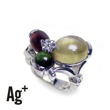 【Ag+】色彩繽紛的碧璽戒指
