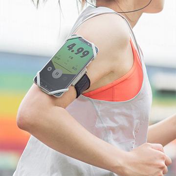 【索樂生活】Run Tie 跑步手機綁 - 彈性矽膠綁繩運動臂套適用4~6.5吋螢幕