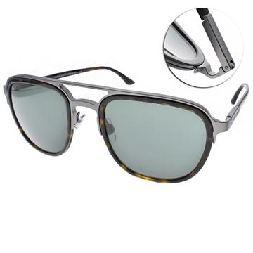 GIORGIO ARMANI太陽眼鏡 率性簡約飛行款(琥珀-銀) #GA6027 300371