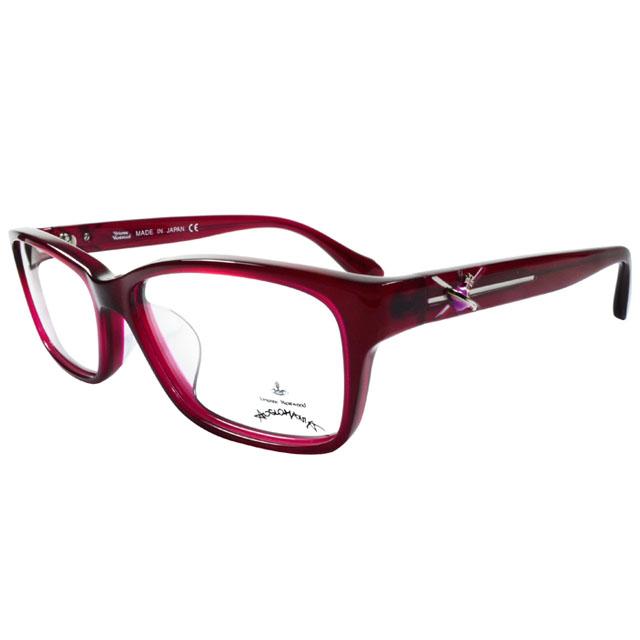 Vivienne Westwood 英國Anglomania時尚款俏皮土星光學眼鏡(紅紫)AN28403