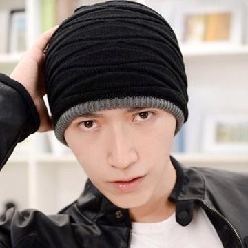 A-Surpriz 率性風格兩用雙面針織帽毛線帽(酷性灰)