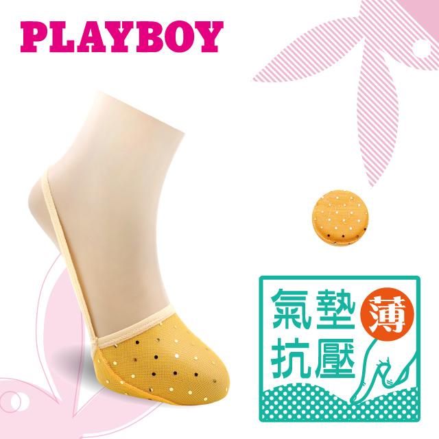 PLAYBOY 止滑點點簍空氣墊隱形襪
