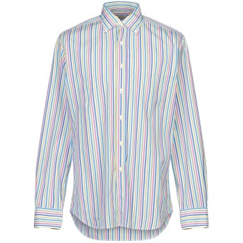 《セール開催中》XACUS メンズ シャツ ブルー 40 コットン 100%