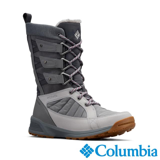 Columbia哥倫比亞 女款-OT防水3D保暖雪靴-灰色 UBL59670GY