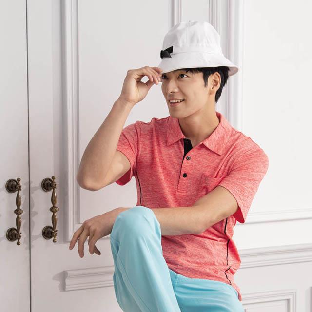 【LEIDOOE】CD浪花布男短袖衫Polo衫16715