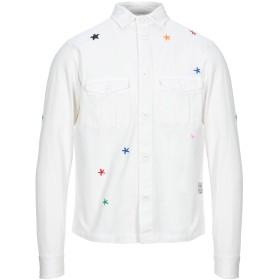 《セール開催中》THE EDITOR メンズ シャツ ホワイト 39 コットン 100%