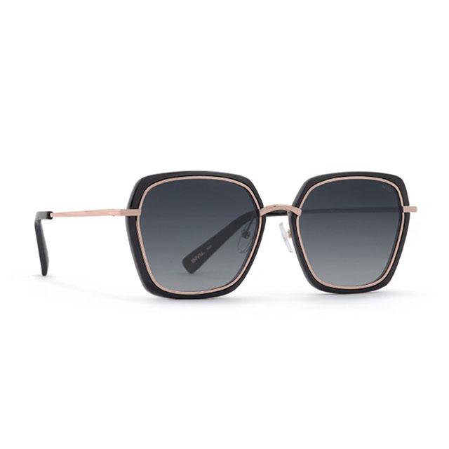 【INVU】瑞士時尚金屬大方框偏光太陽眼鏡(黑)Z1904A-亞洲限定款