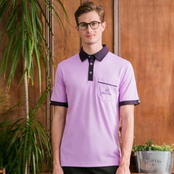 Valentino Rudy范倫鐵諾.路迪-吸濕排汗襯衫領Polo衫-亮紫