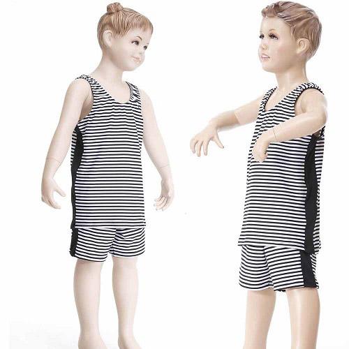 【Bich Loan】兒童泳裝附泳帽13002001