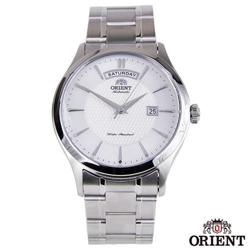 ORIENT東方錶  品味生活自動上鍊機械腕錶-白x41mm  FEV0V001WH