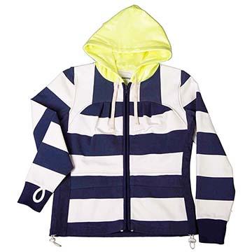 美國LA設計品牌【Suvnir】藍白橫紋女版連帽外套