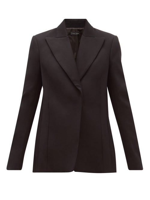Carl Kapp - Obsidian Single-breasted Cotton-sateen Blazer - Womens - Black