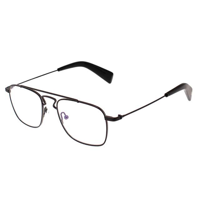 Yohji Yamamoto 山本耀司 金屬雙樑矩形時尚光學眼鏡【霧黑】YY3005-002