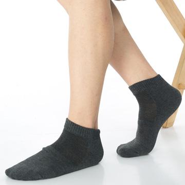 【KEROPPA】可諾帕細針毛巾底氣墊束底男短襪x4雙C91002 D深灰