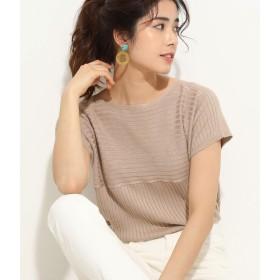 Tシャツ - ViS ワイドリブ切替フレンチ袖プルオーバー