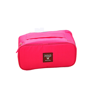 AOU 旅行配件多功能萬用包 內衣褲收納袋 (玫紅) 66-008A布