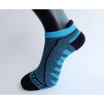 acolor竹炭三跟透氣型氣墊運動襪(止滑) (5716)