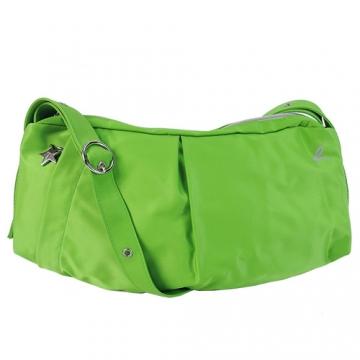 agnes b.經典彎月斜背包-蘋果綠
