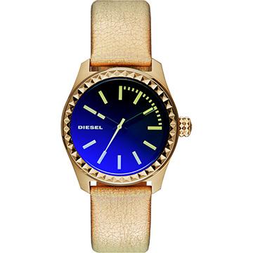 DIESEL Gorgeous 華麗派對時尚炫彩腕錶-金/38mm  (DZ5460)