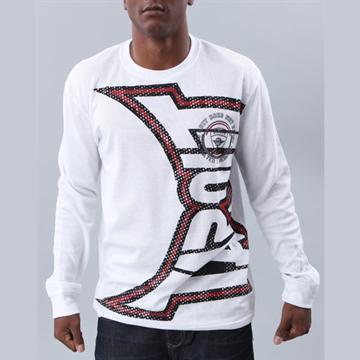 『摩達客』美國進口【Tapout】 紅白Logo白長袖T恤