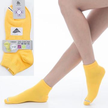 【KEROPPA】可諾帕舒適透氣減臭超短襪x黃色兩雙(男女適用)C98005